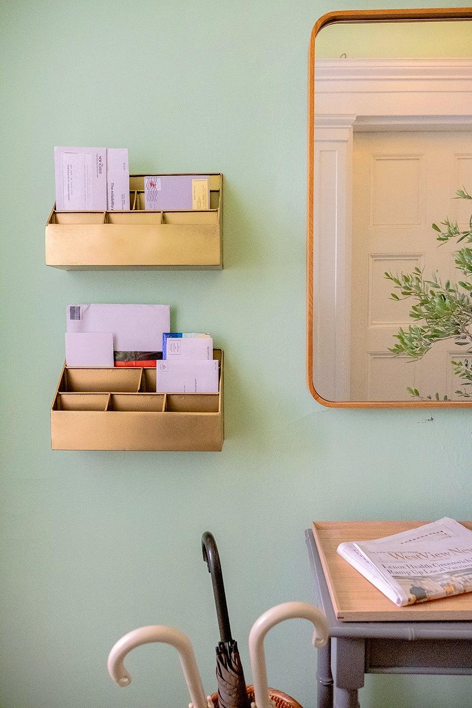 mint green wall