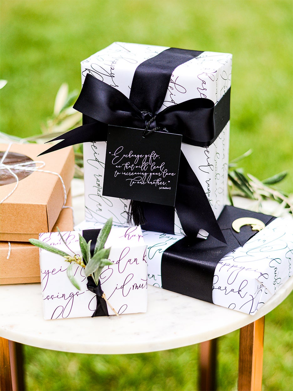 black and white gift wrap