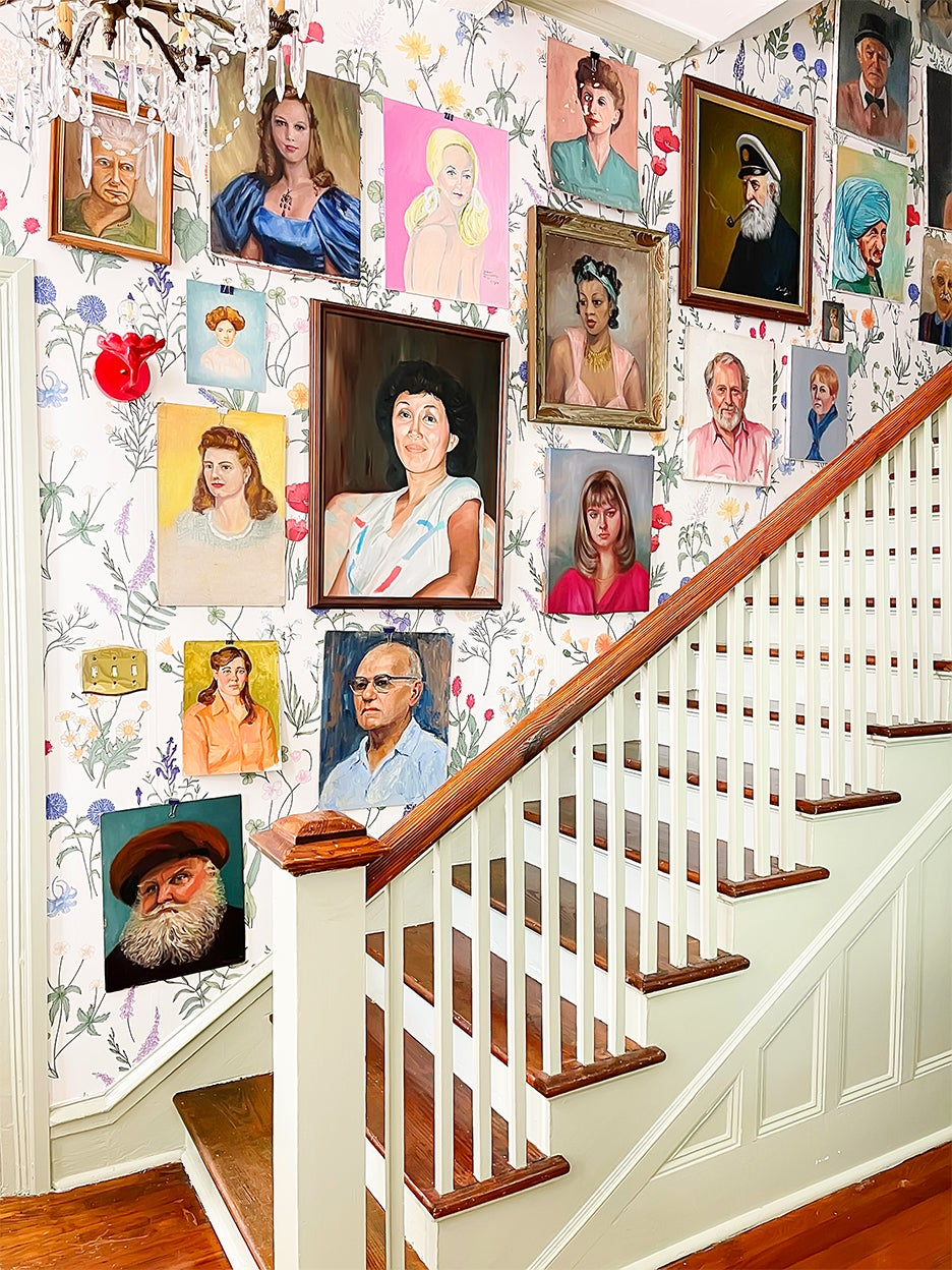 portrait gallery stair wall