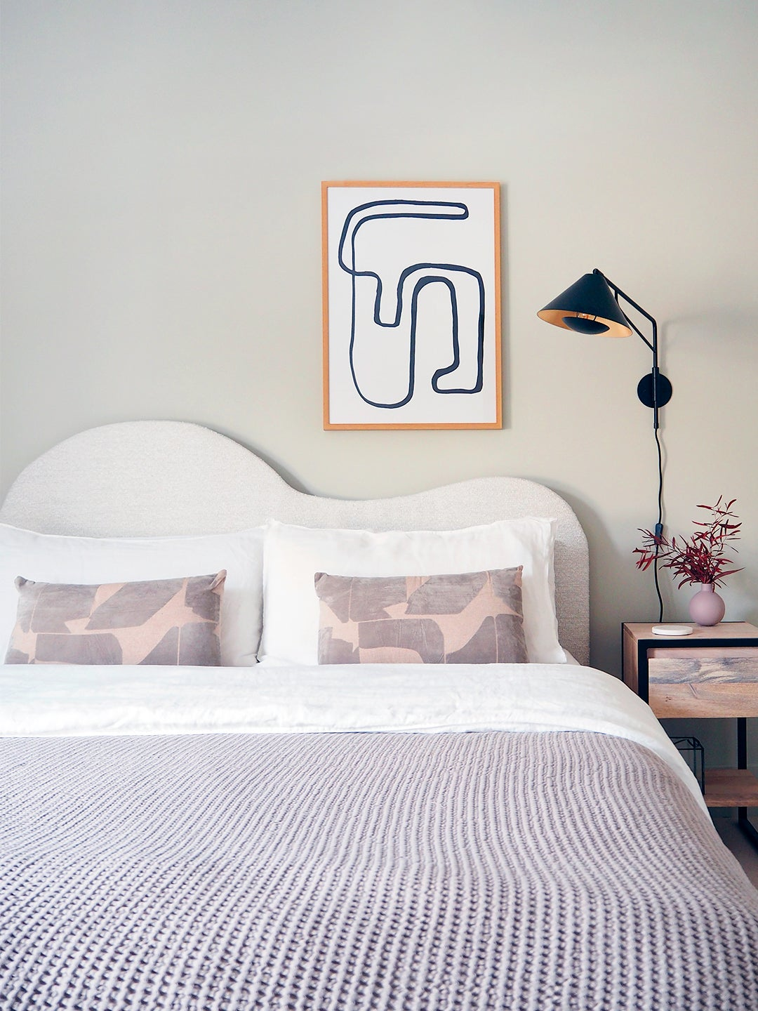 Get In on the Wavy Headboard Trend With This $275 DIY