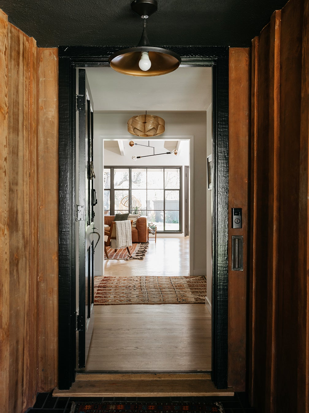 cedar wood entrance