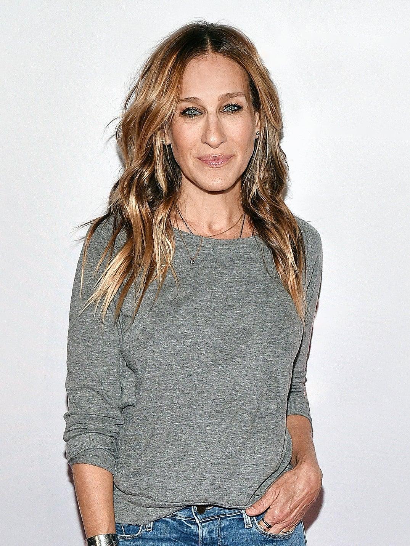 woman in gray shirt
