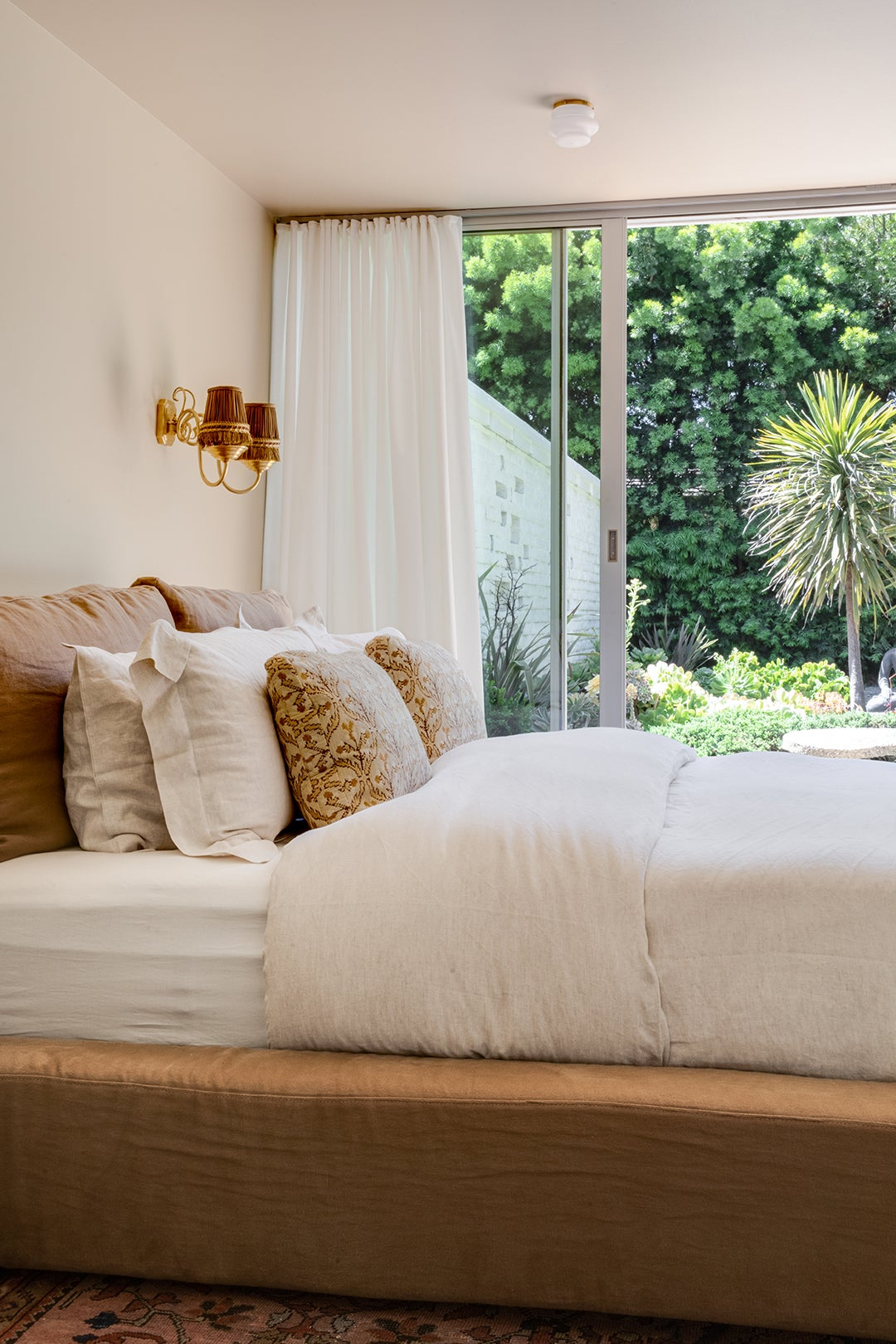 cozy neutral bed
