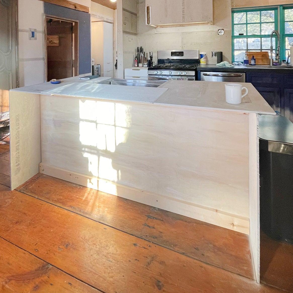 kitchen island wood frame