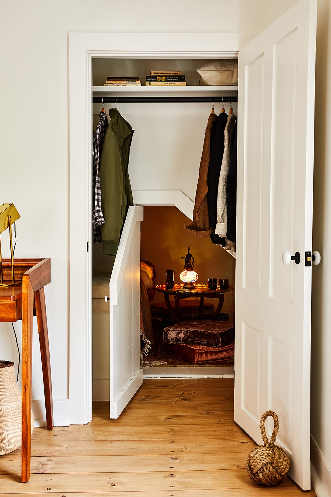 Narnia-esque nook in closet