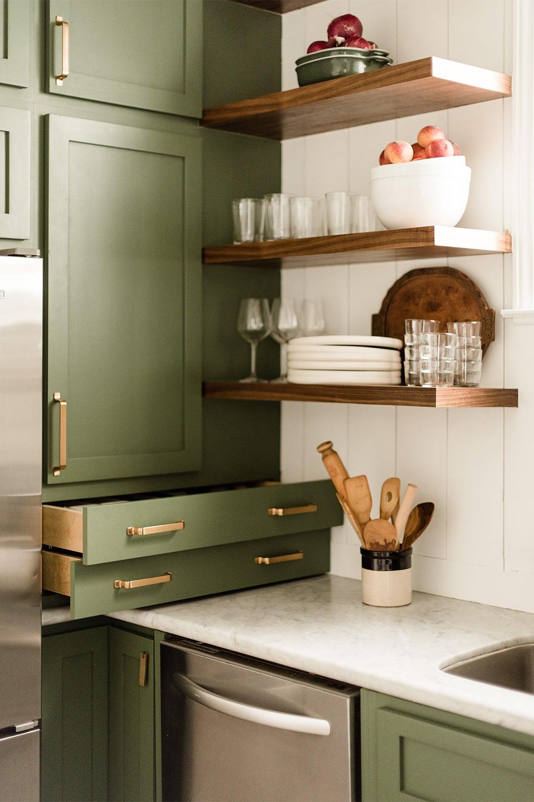countertop drawers open
