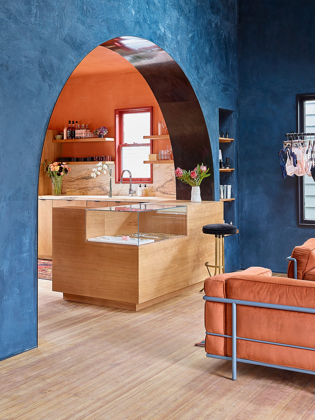 We're Stealing This Fresh Take on Built-Ins From Austin's New Sexual Wellness Shop
