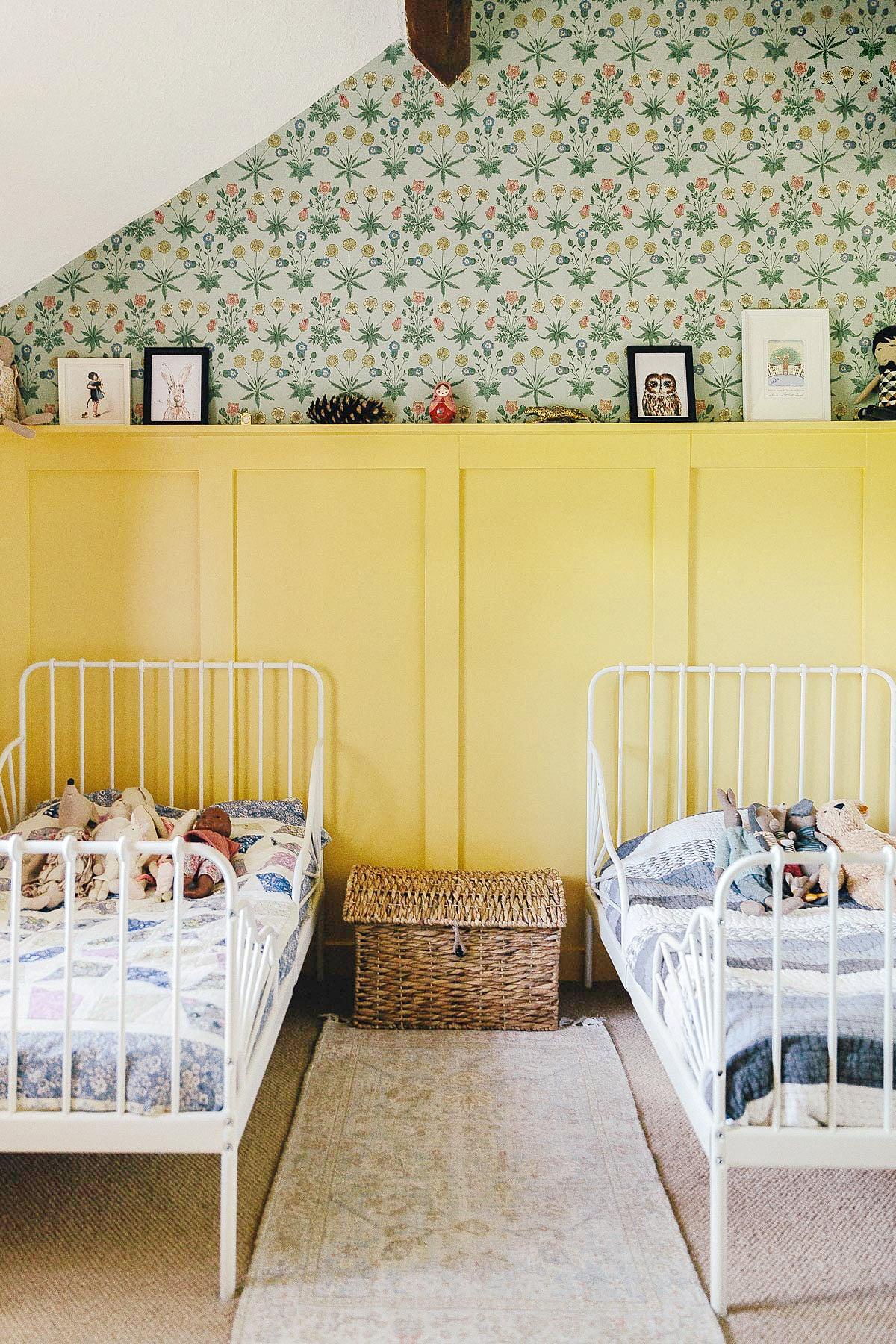 yellow kids wall