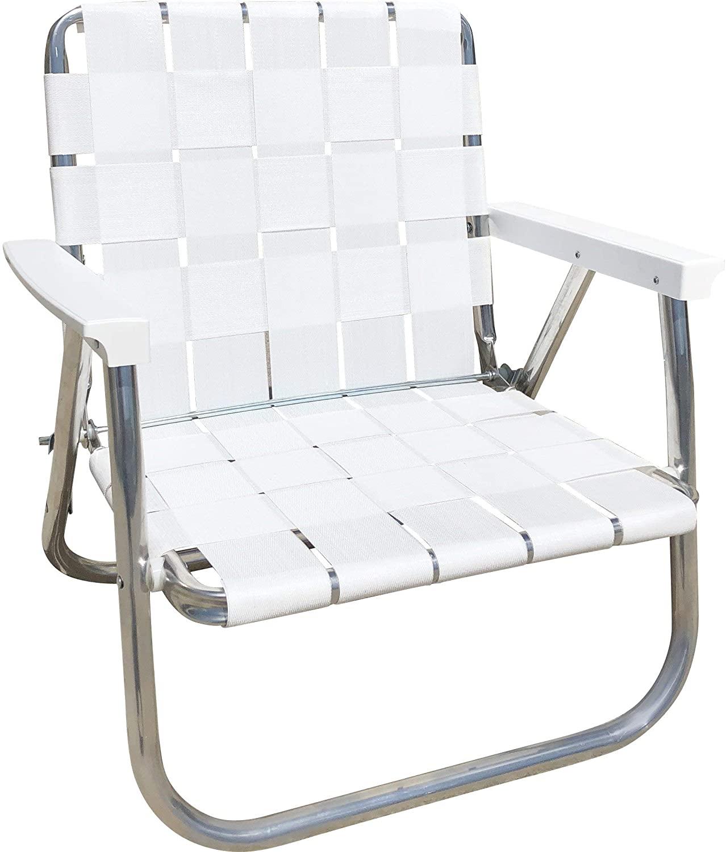 White Web Foldable Lawn Chair