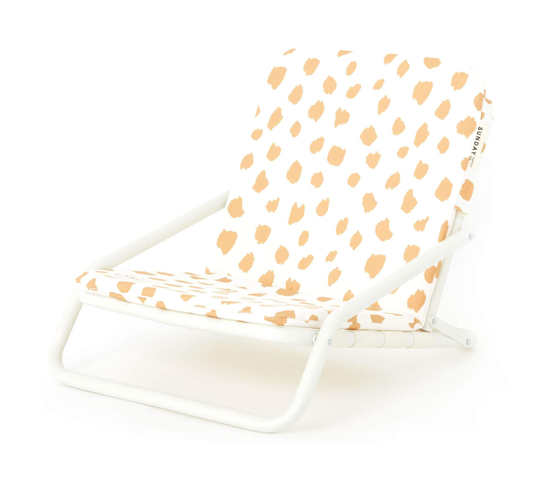 Yellow Dot Beach Chair
