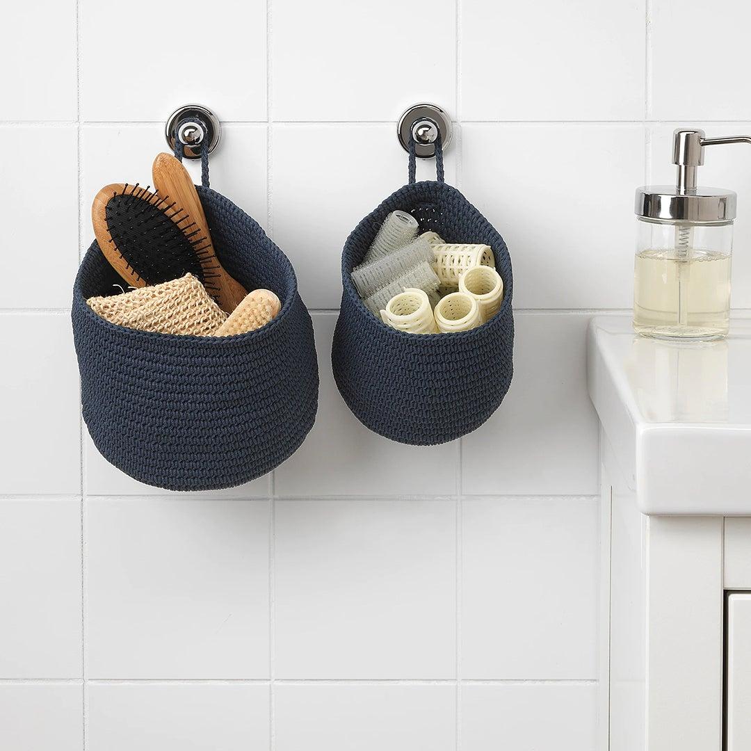 Blue Hanging Baskets