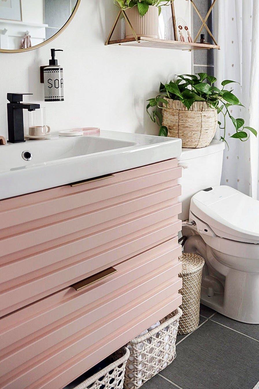 Pink IKEA Floating Vanity