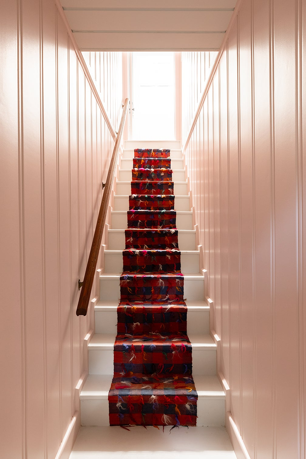 red staircase runner