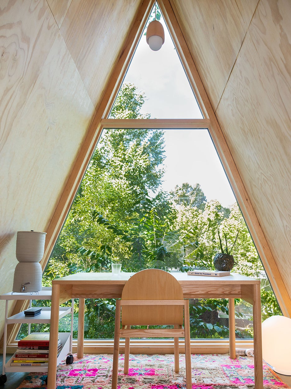 I Built My Serene Backyard Office From an A-Frame Kit I Bought Online