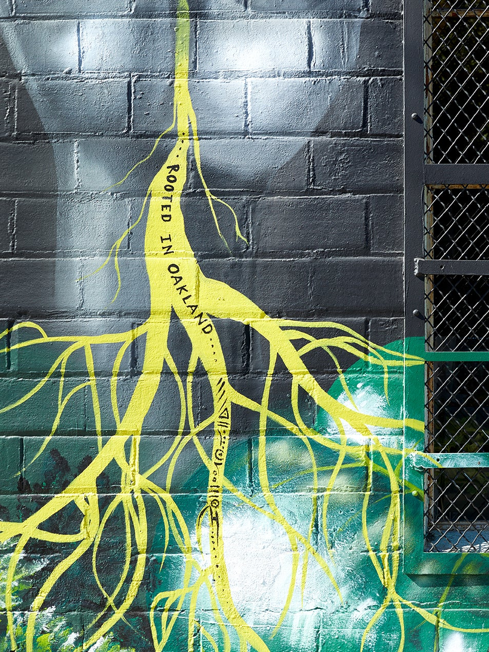 """""""rooted in brooklyn"""" mural"""