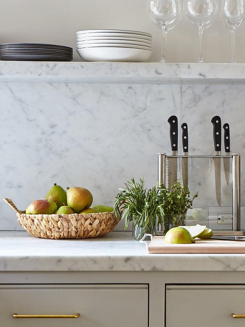 gray kitchen counter