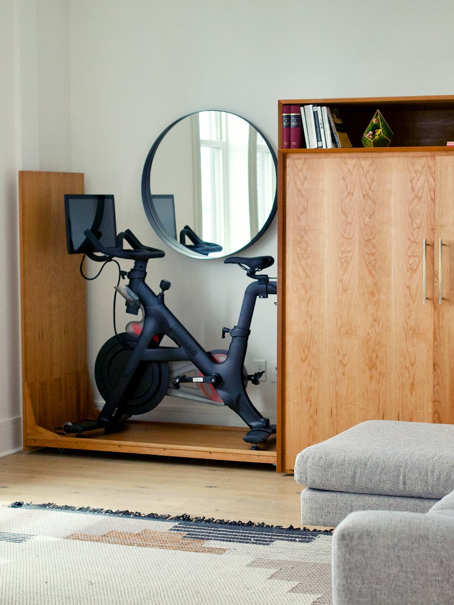Finally a Way to Hide the Exercise Equipment in Your Living Room