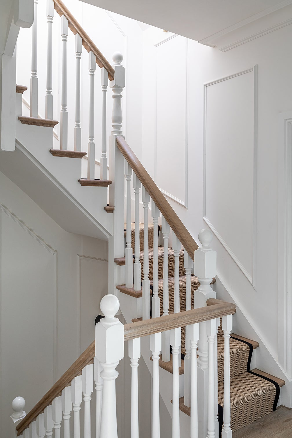 white traditional staircase