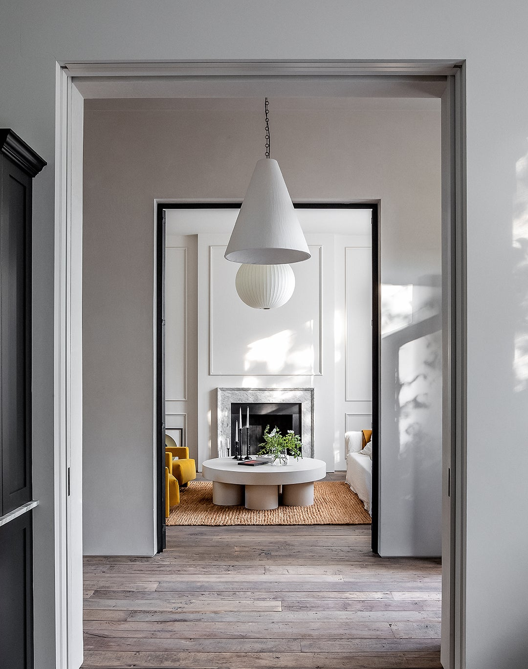 doorways looking into living room
