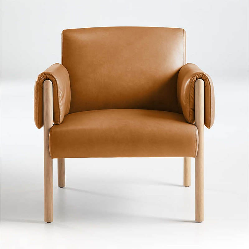 The Best Reading Chair Option Crate & Barrel Diderot Wood and Leather Chair