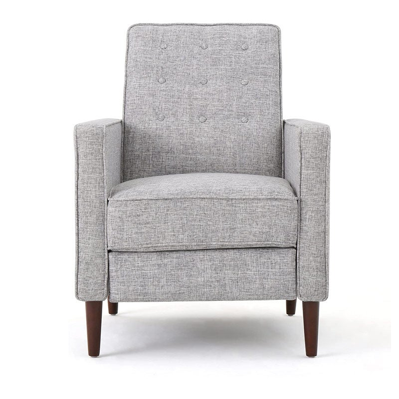 The Best Reading Chair Option Macedonia Mid-Century Modern Tufted Back Fabric Recliner