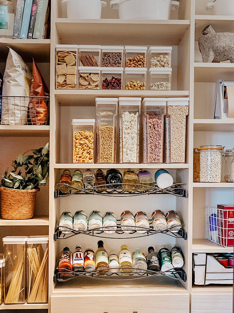spices laid out in pantry