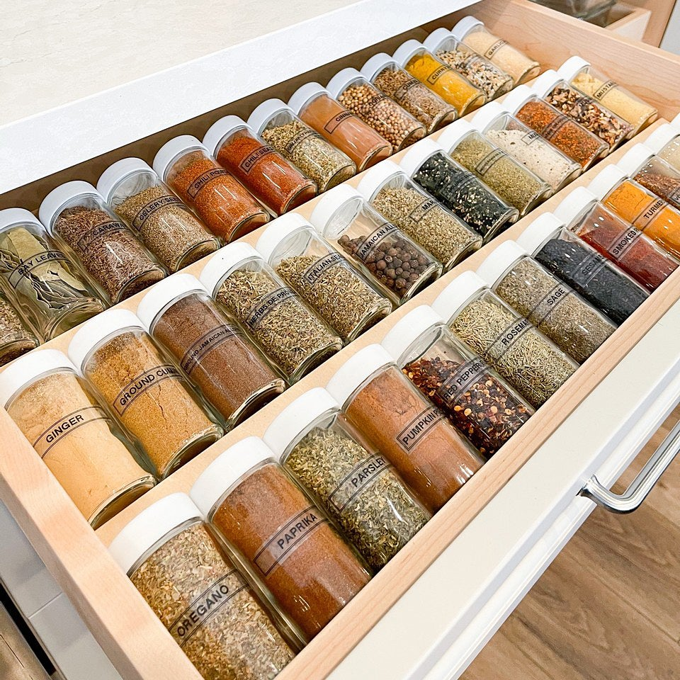 spices in drawer
