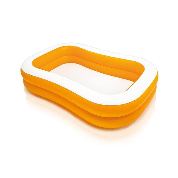 Two-Tone Orange Square Pool