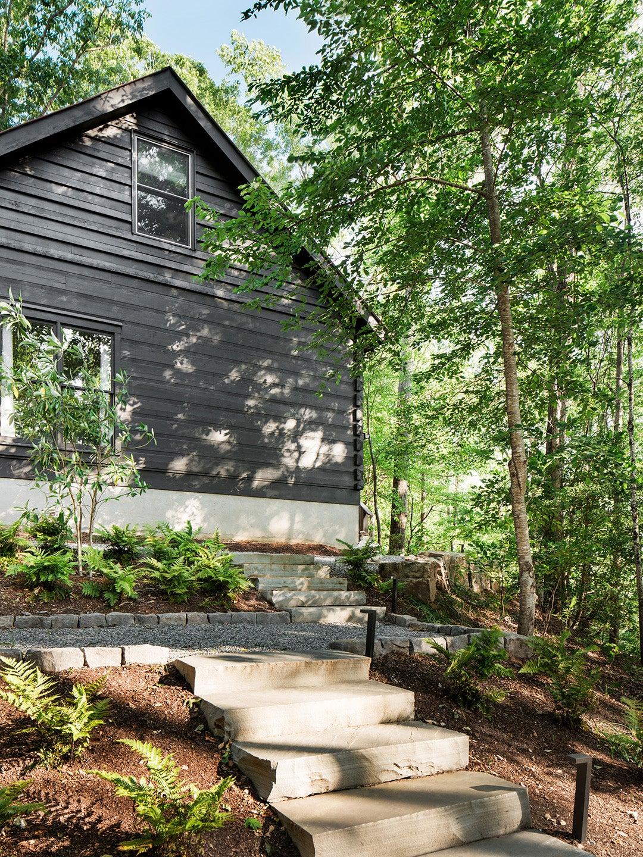 black cabin facade
