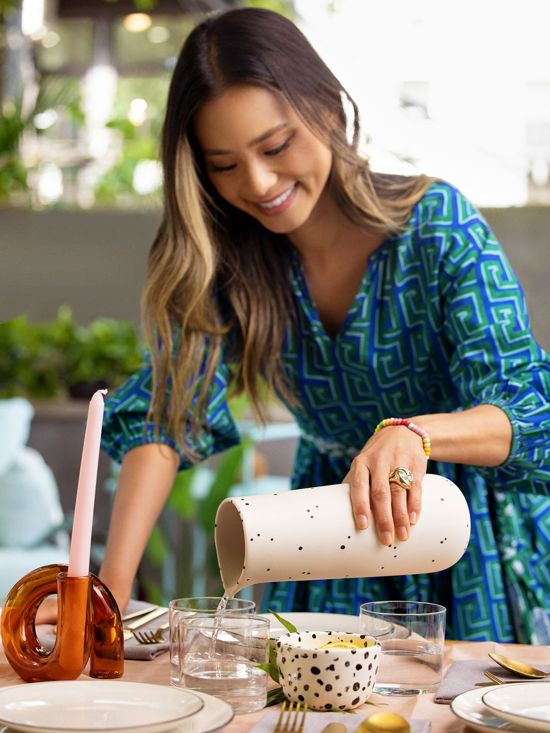 Jamie Chung Pouring Water