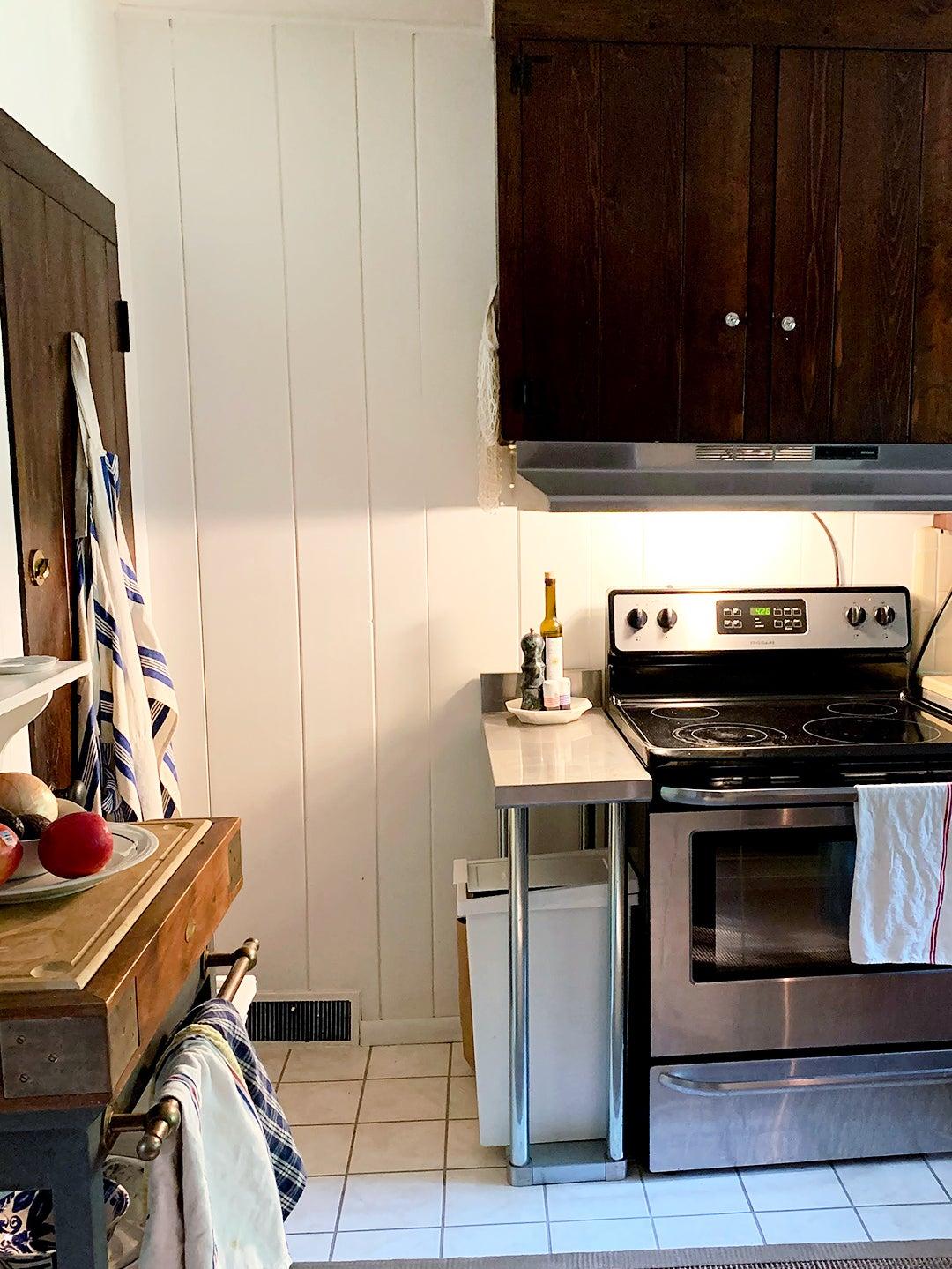 Old Kitchen, Shiplap Walls