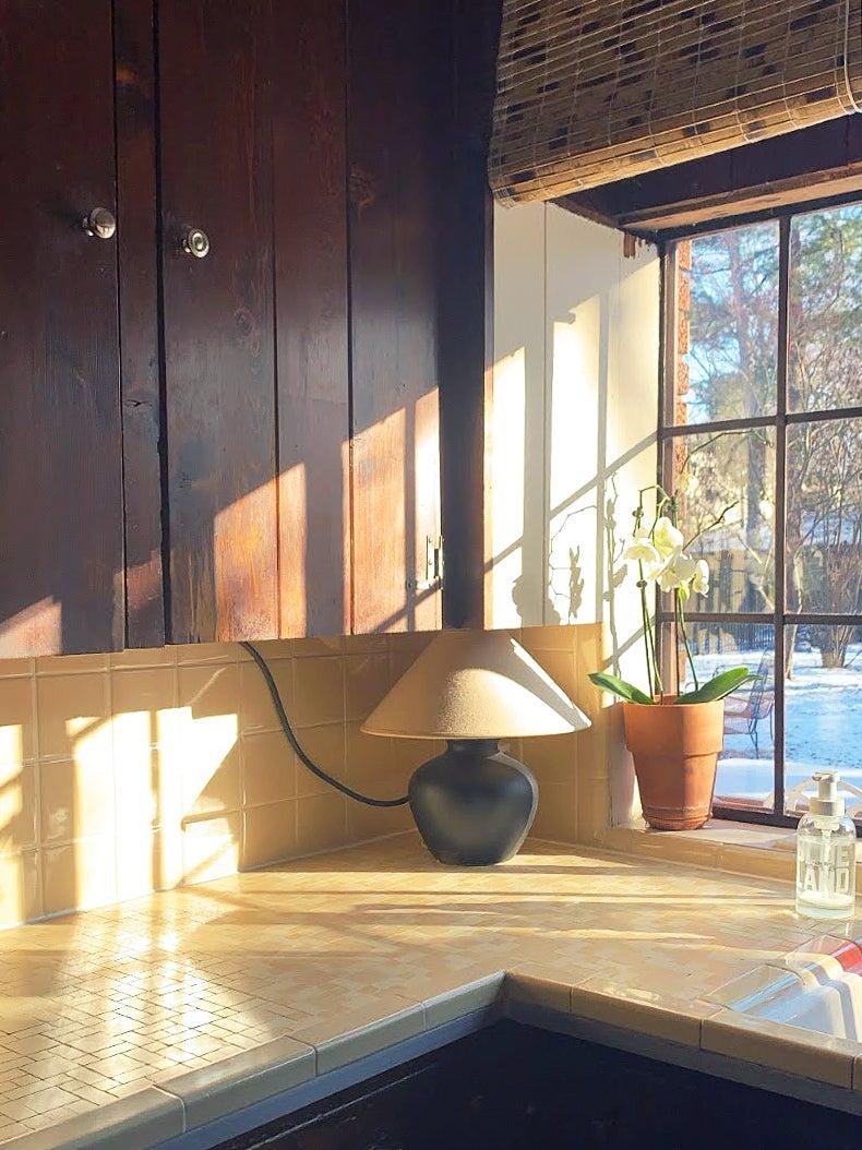 Kitchen Corner With Lamp