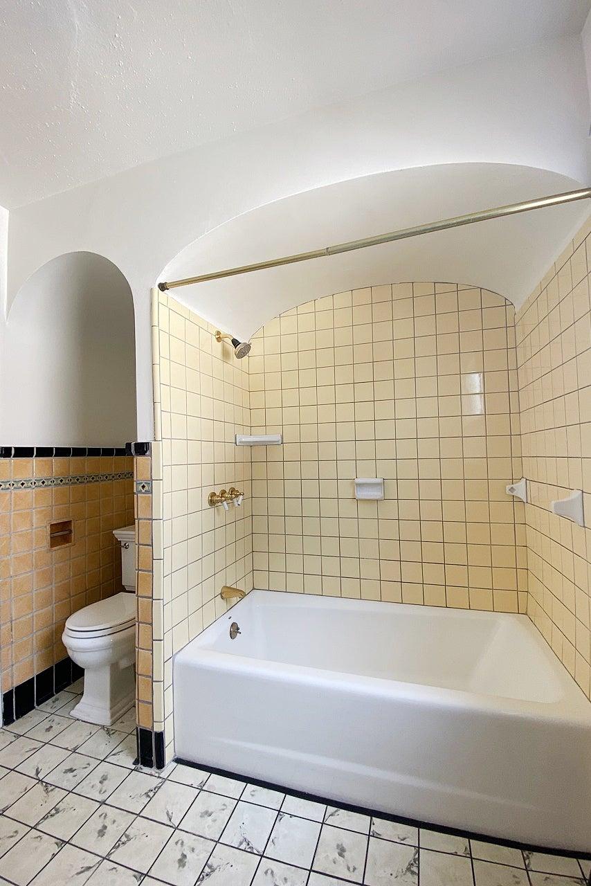 dated yellow bathroom