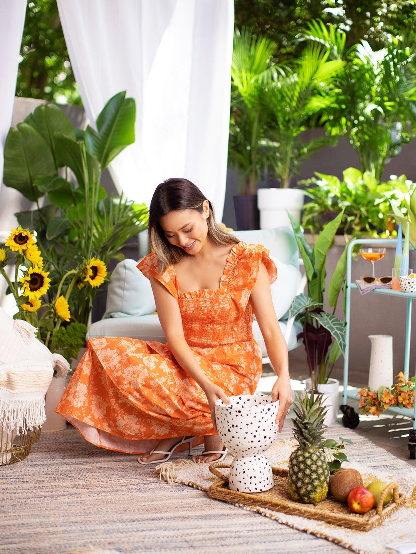 Jamie Chung Backyard Sunflowers Planter