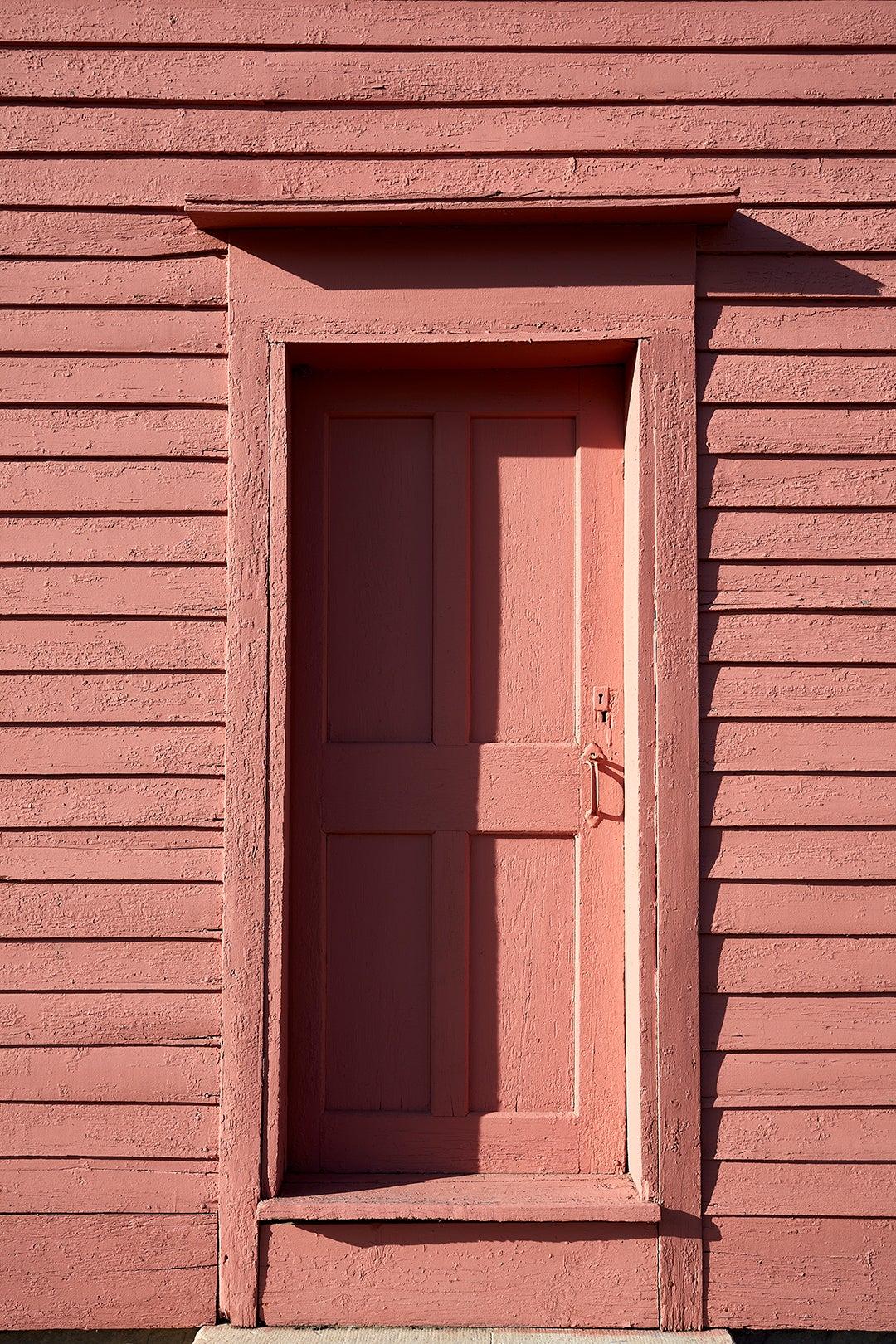 pink house facade