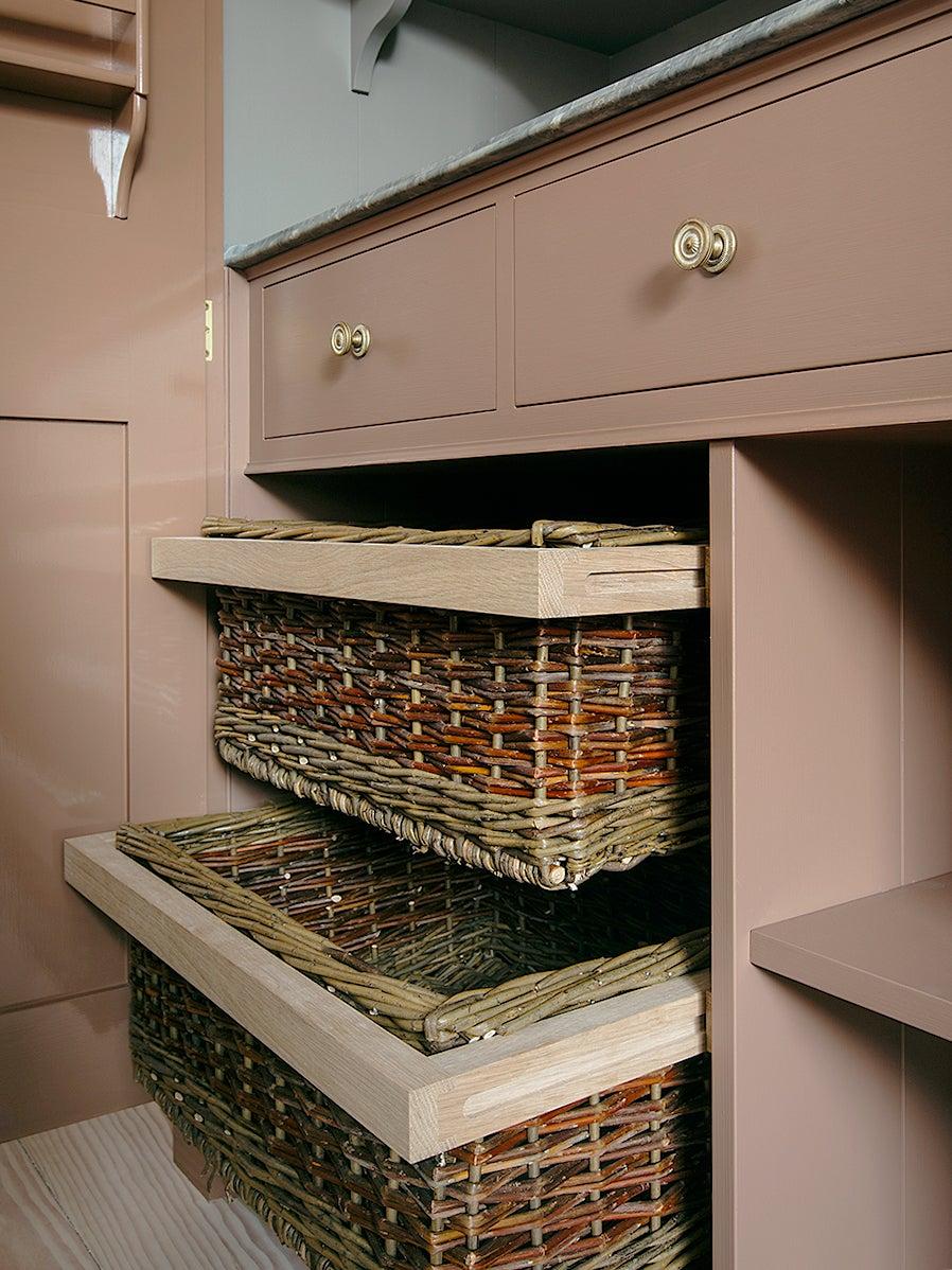 wicker fruit storage drawers