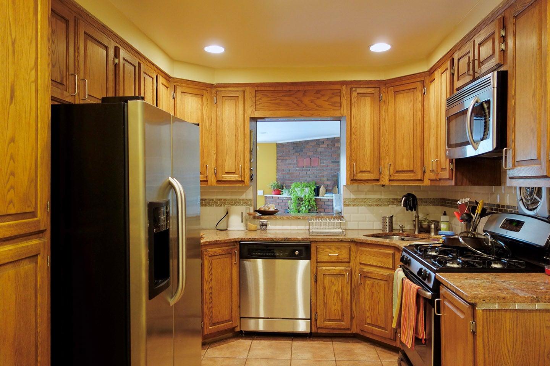 brown kitchen before