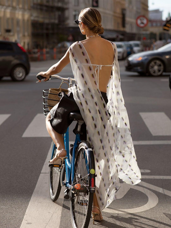 woman on bike