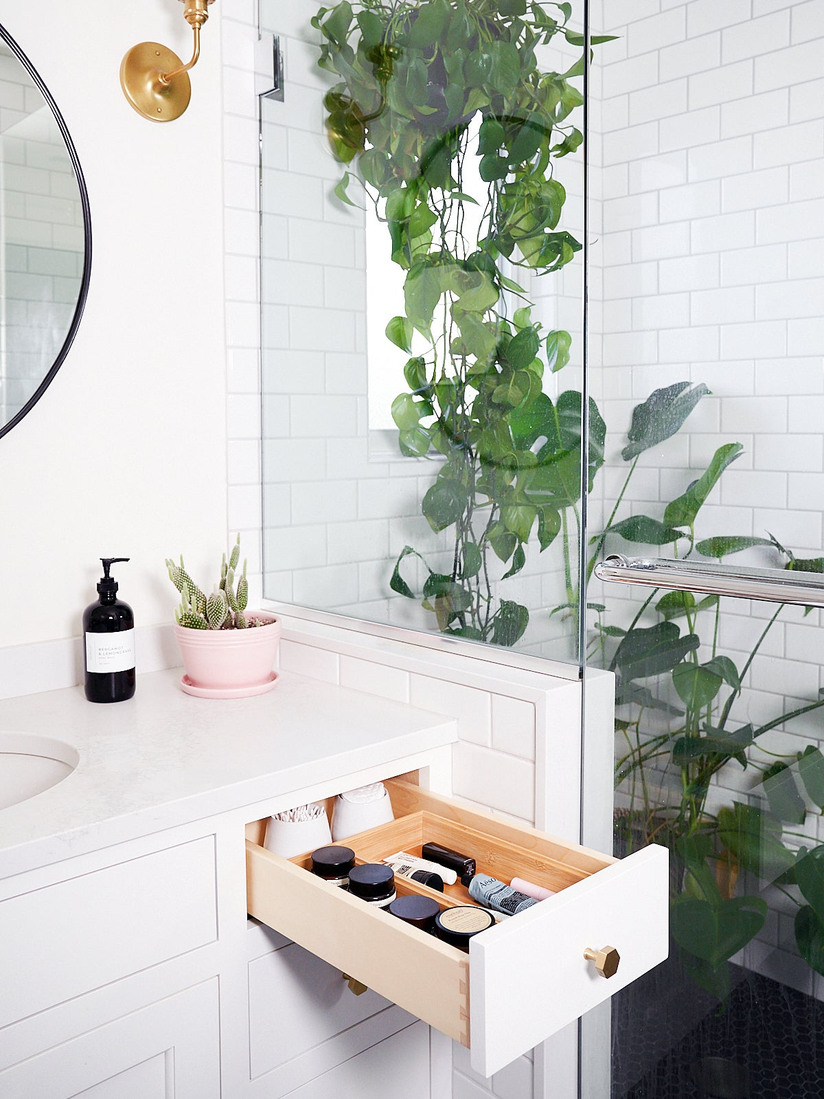 $5 Dividers Worked Magic in Both This Mini Vanity and Pantry Makeover