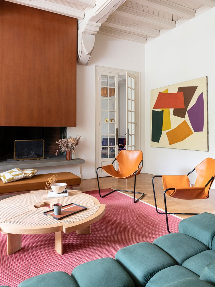 Napoleonic Architecture and Mid-Century Furniture Meet Head-On in This French Home