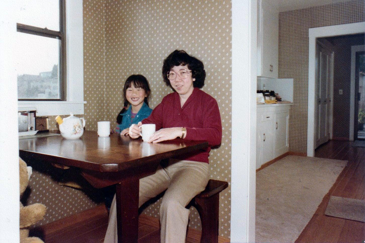 dining room corner, vintage photo