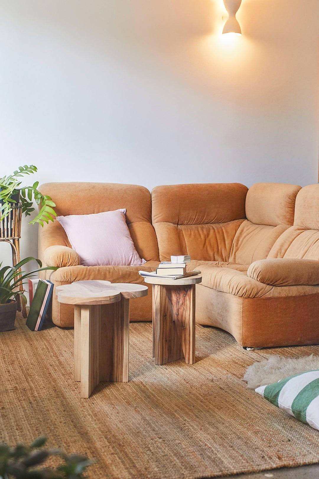 cozy brown sofa