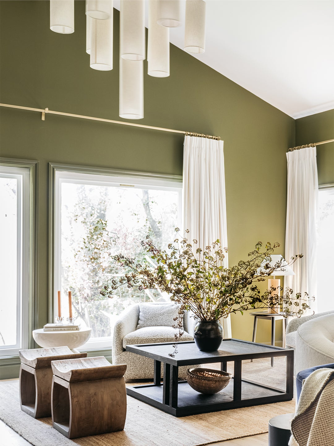 Green Living Room Pendant Large Coffee Table