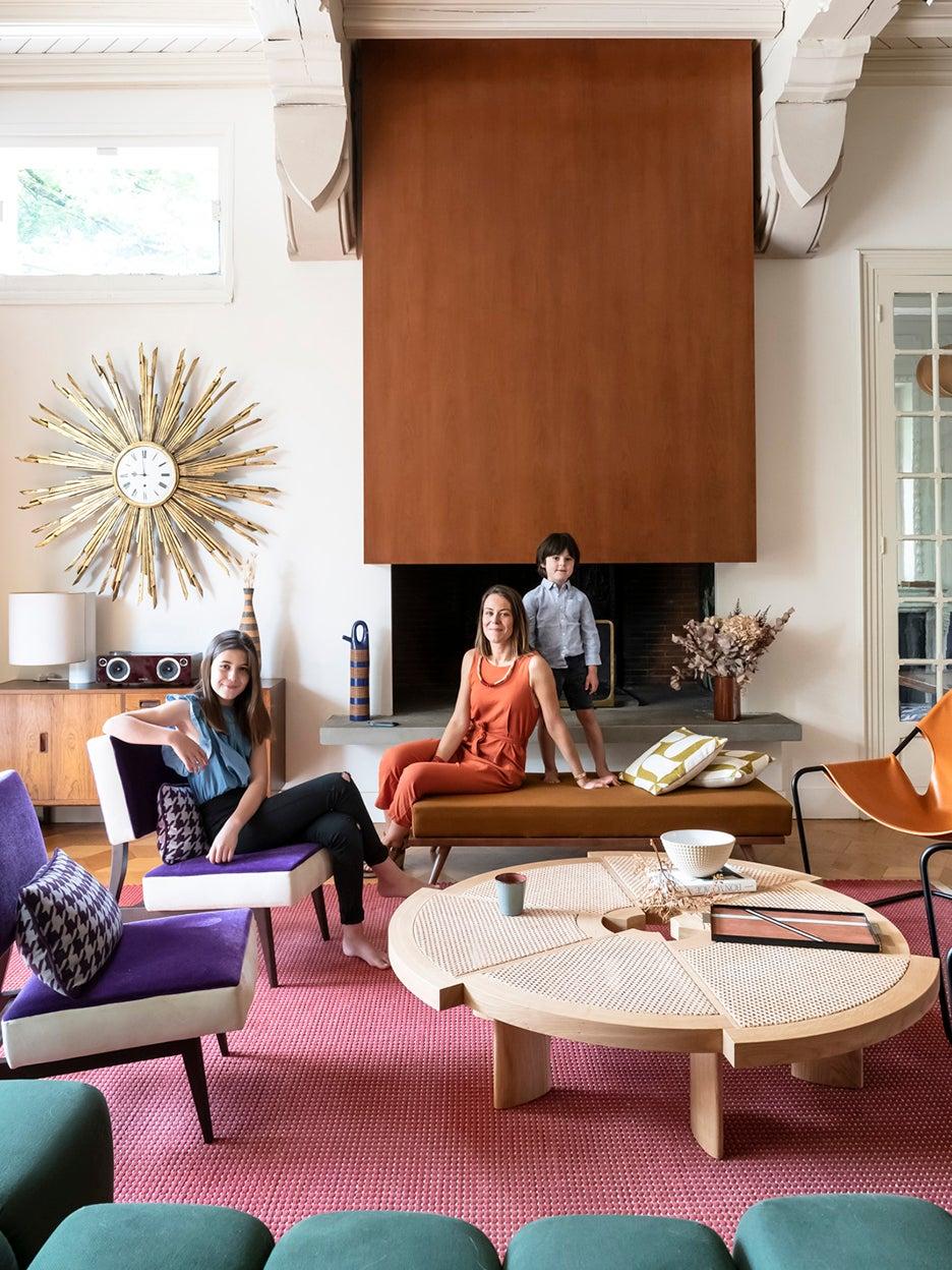 Julia Rouzaud's colorful living room