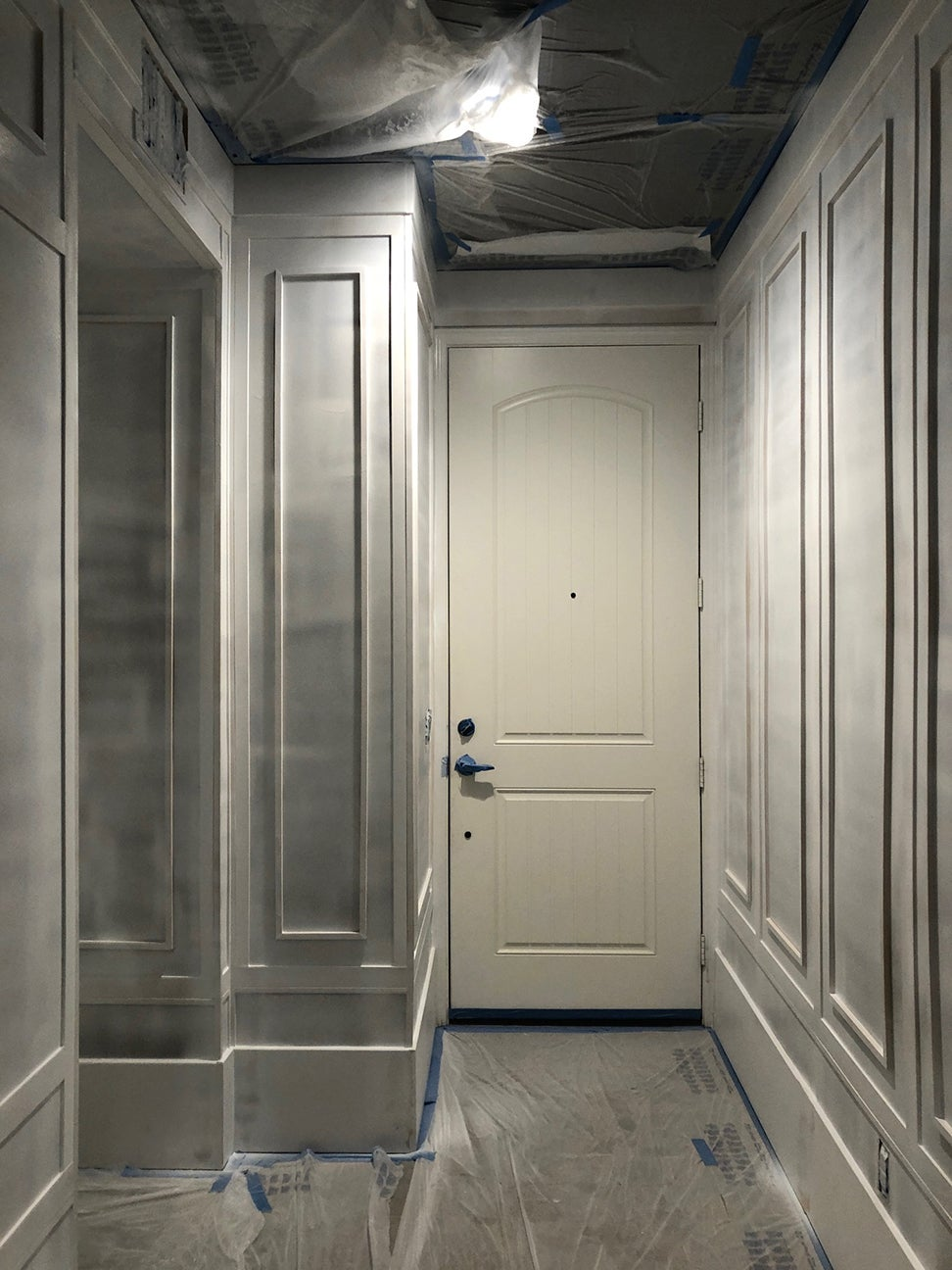 half painted hall
