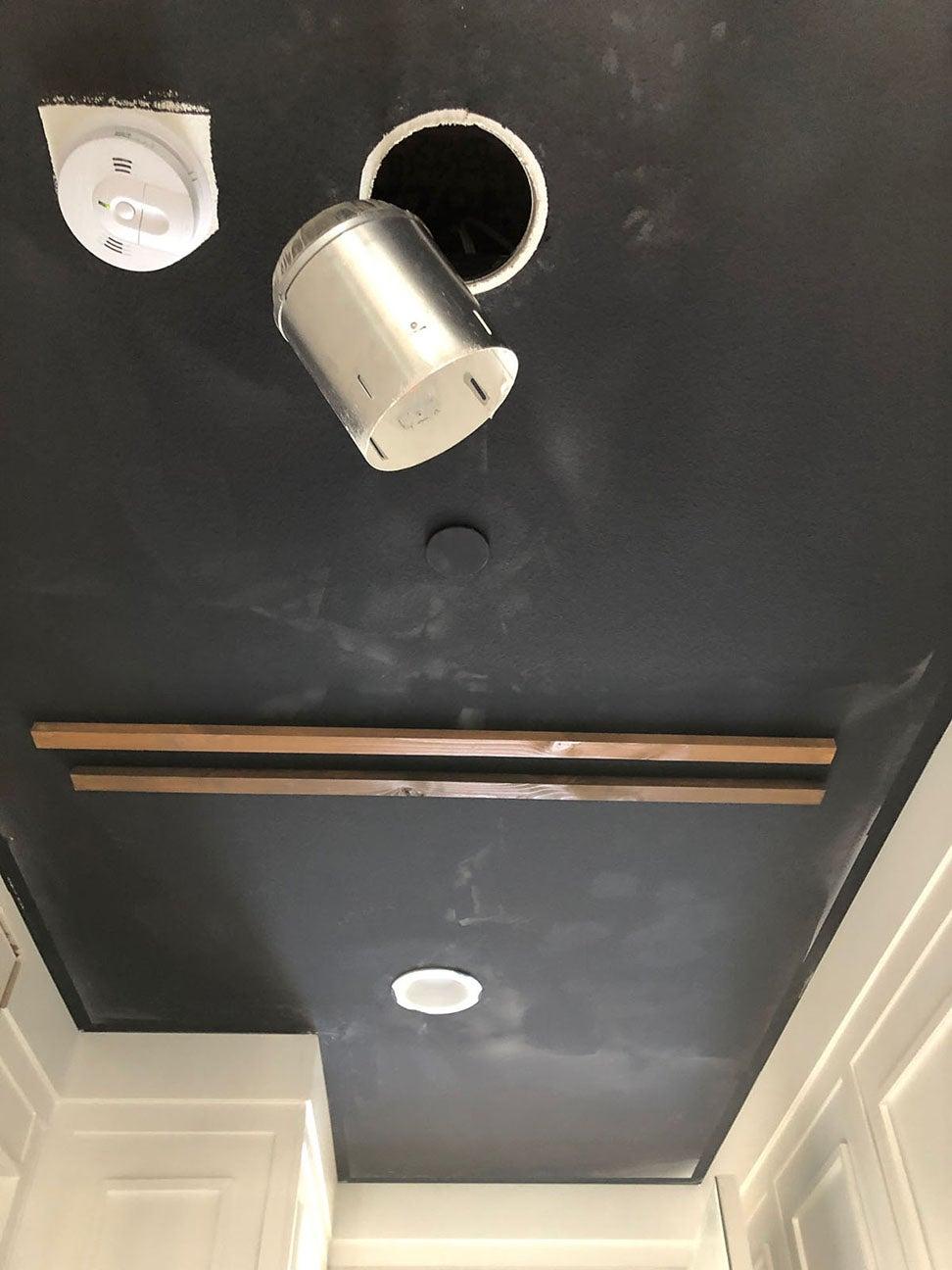 black ceiling