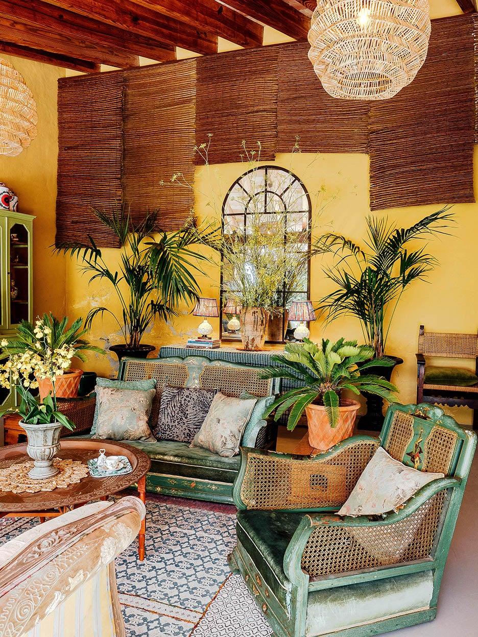 yellow living room