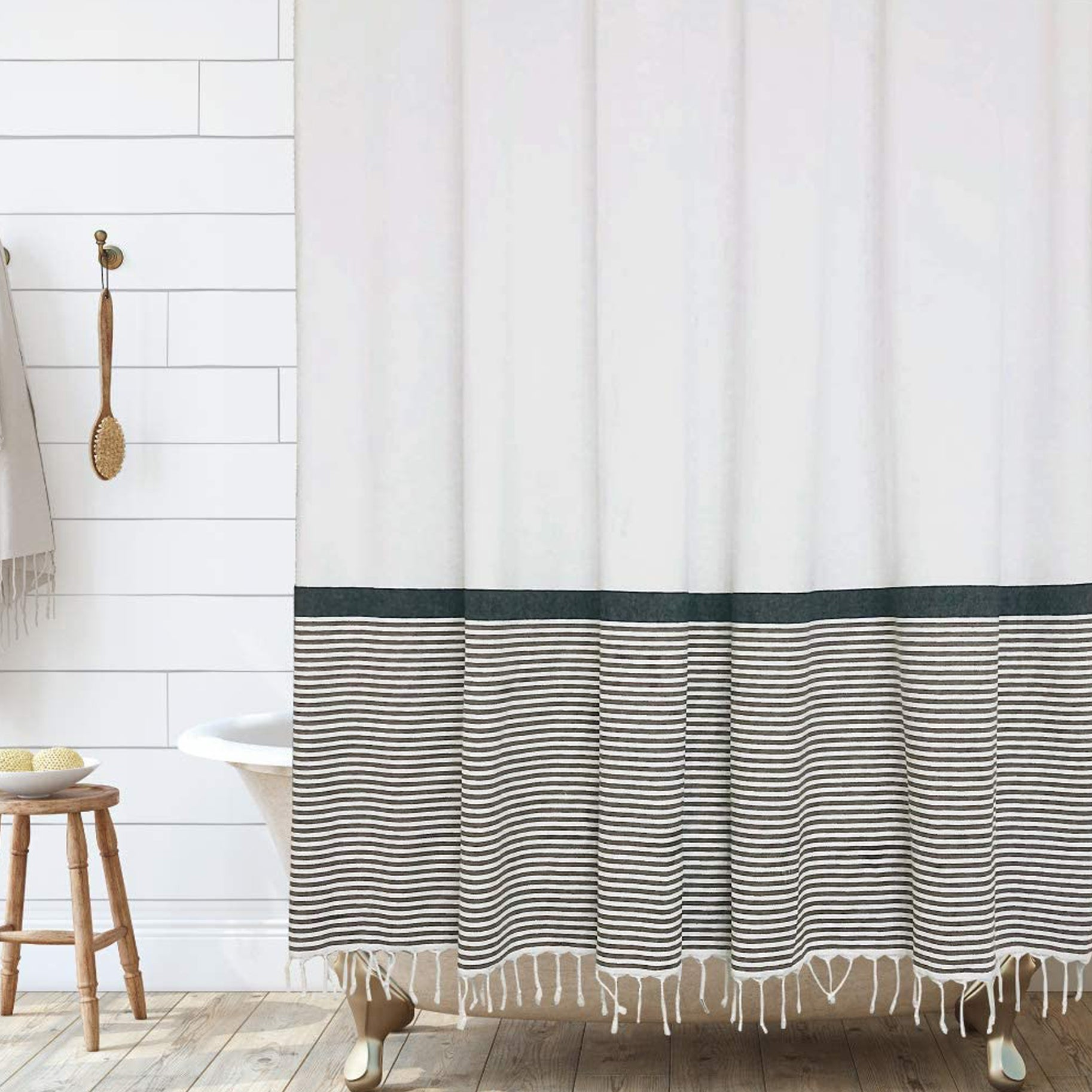 The-Best-Shower-Curtains-Option-Hall-And-Perry-Tassel-Shower-Curtain