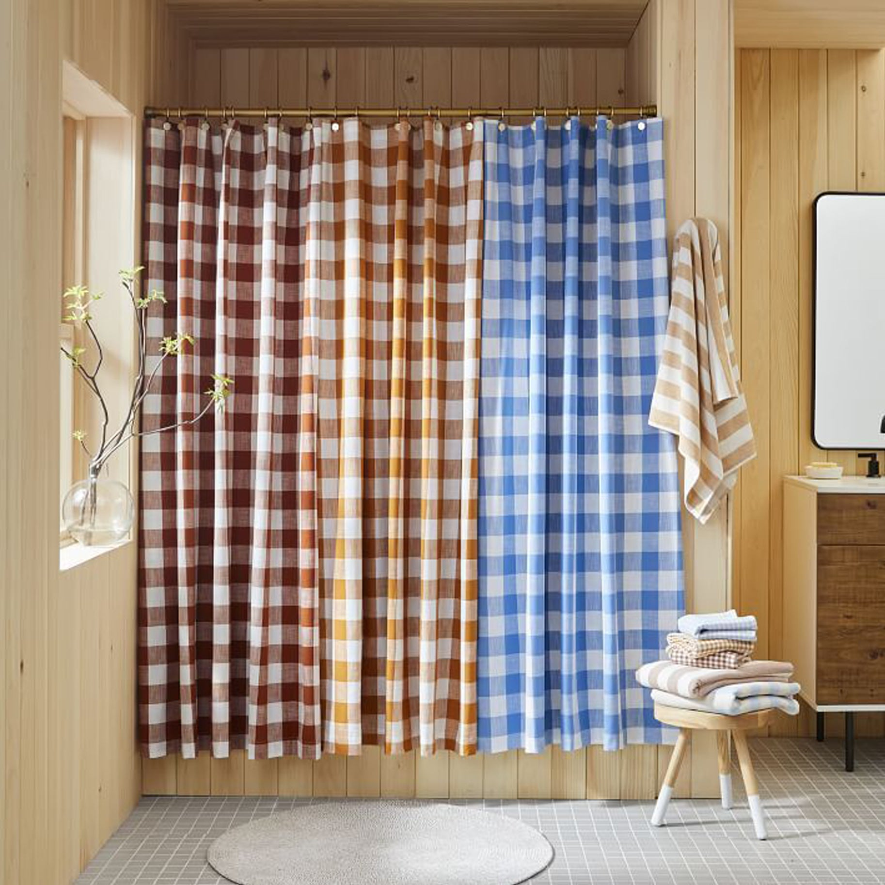 The-Best-Shower-Curtains-Option-Heather-Taylor-Home-Gingham-Curtain