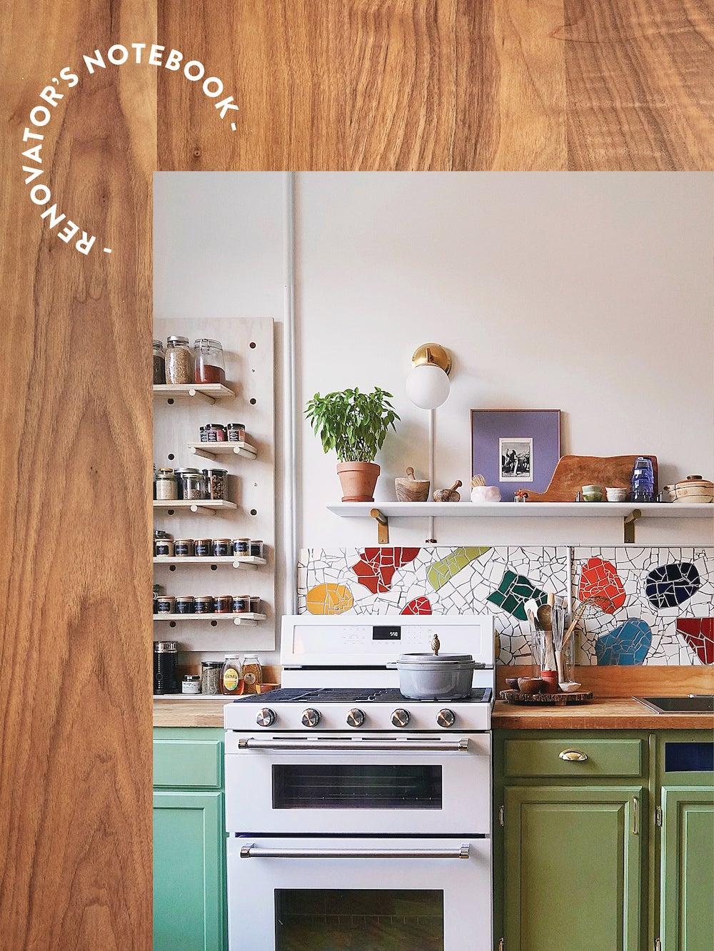 kitchen photo on wood background